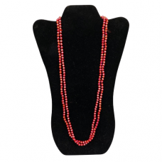 6 mm Red Cut Glass Necklace
