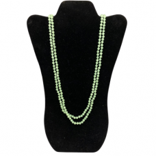 6 mm Lime Green Cut Glass Necklace
