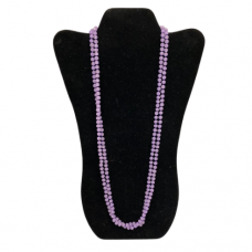 6mm Opaque Purple Cut Glass Necklace