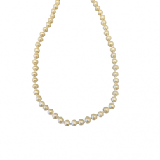Children's Hand Knotted 5mm Cream Pearl Necklace