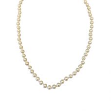 Children's Hand Knotted 4mm Cream Pearl Necklace