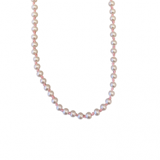 Children's Hand Knotted 4mm Pink Pearl Necklace