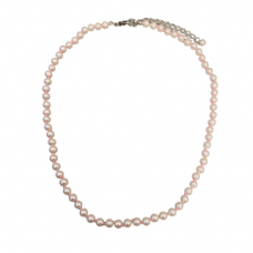 Children's Hand Knotted 5mm Pink Pearl Necklace