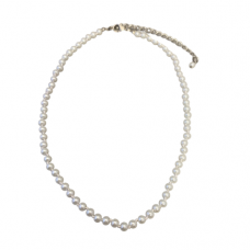 Children's Hand Knotted 4mm White Pearl Necklace