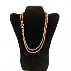 Dark Champagne colored double strand Pearl necklace