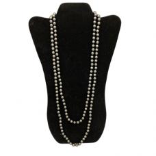 Dark Grey 8mm pearl necklace