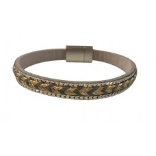 Gold Metallic Arrow Bracelet - Gray