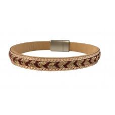 Gold Metallic Arrow Bracelet - Red