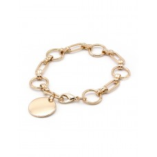 Chain Link Bracelet - Worn Gold
