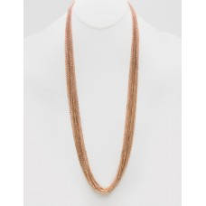 """32"""" Multi Layered Necklace - Rose Gold"""