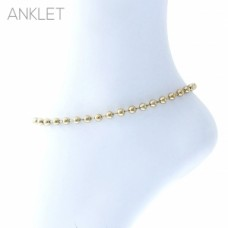 Gold Ball Bead Chain Anklet