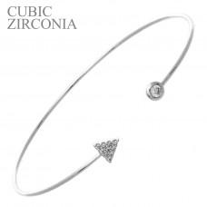 Arrow Wire Cuff Bracelet - Silver