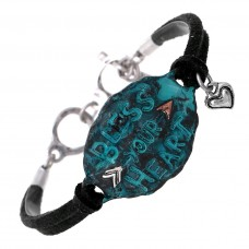 Patina/Burnished Silver Bless Your Heart Toggle Bracelet