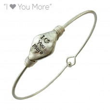 """""""I Love You More"""" Wire Bracelet - Silver"""