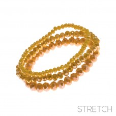 3 pc Crystal Stretch Bracelet - Citrus