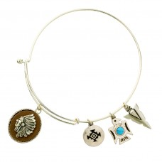 Native American Multi Charm Bracelet - Gold