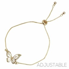 Butterfly Slide Bracelet - Gold