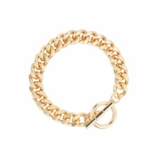 Chunky Chain Link Toggle Bracelet - Gold