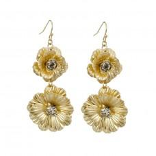 Anemone Flower Earring in Gold