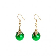 Ornament Dangle Earrings - Green