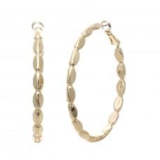 50mm Triangular Hoop Earrings - Gold