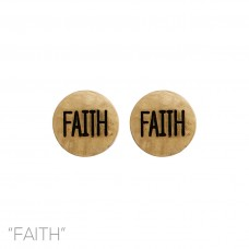 """Faith"" Stud Earring in Gold"