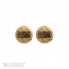 """Blessed"" Stud Earring in Gold"