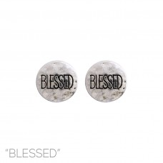 """Blessed"" Stud Earring in Silver"