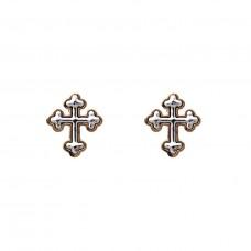 Cross Earring in Gold
