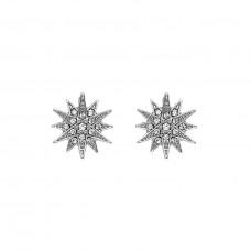Crystal Starburst Post Earrings