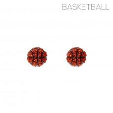 Rhinestone Basketball Earrings