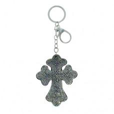 Cross Stone Keychain