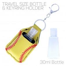 Sanitizer Holder with Keyring - Softball