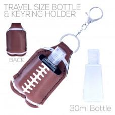 Sanitizer Holder with Keyring - Football