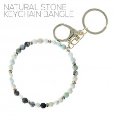 6mm Natural Stone Keychain Bangle