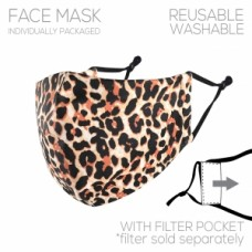 Adult Cloth Reusable Mask - Leopard Print