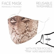 Adult Cloth Reusable Mask - Snake Print