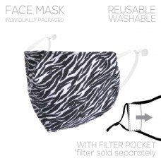 Adult Cloth Reusable Mask - Zebra Print