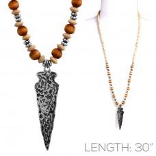 Arrowhead Necklace in Mixed Media