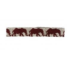 Elephant Seed Bead Headband - Red