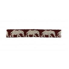 Elephant Seed Bead Headband - White