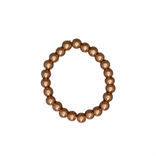 8mm Pearl Stretch Bracelet - Copper