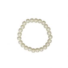 8mm Pearl Stretch Bracelet - Cream