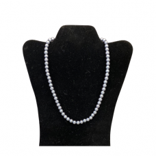 "18"" 8mm Pearl Necklace - Gray"
