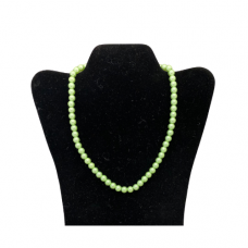 "18"" 8mm Pearl Necklace - Green"