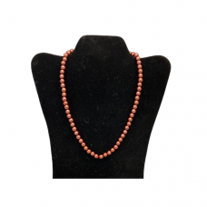 "18"" 8mm Pearl Necklace - Bronze"