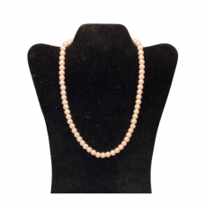 "18"" 8mm Pearl Necklace - Pink"