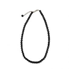 "18"" 8mm Black Bead Necklace"