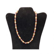"18"" 8mm Multi Pearl Necklace - Copper, Bronze and Gray"