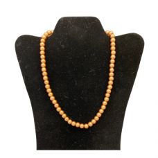 "18"" 8mm Pearl Necklace - Copper"